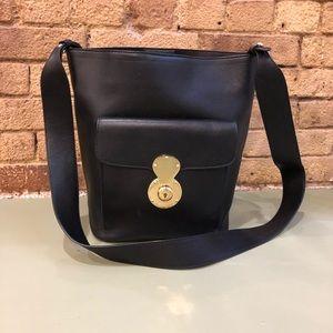 Ralph Lauren calfskin leather bucket bag